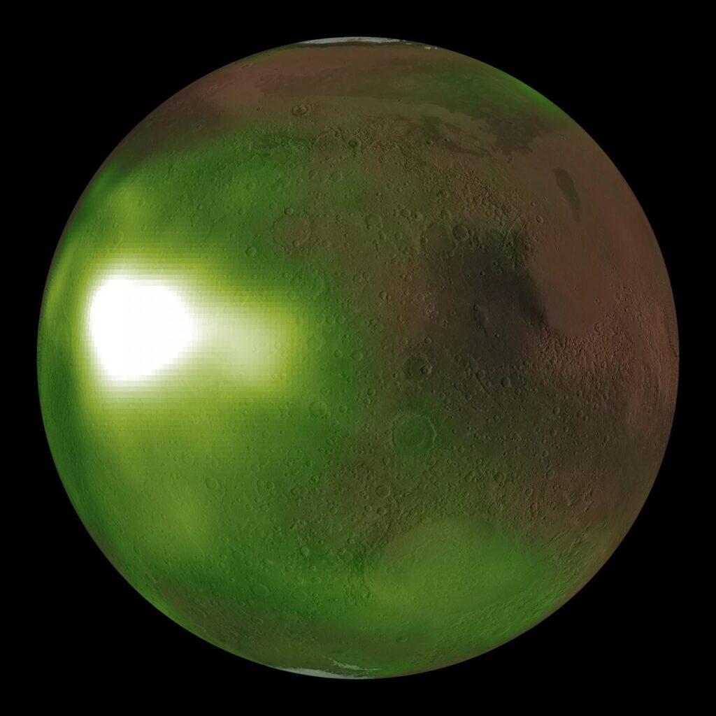 Martian night ultraviolet nightglow