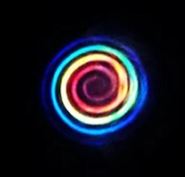 arcobaleno laser spirale luce telecomunicazioni
